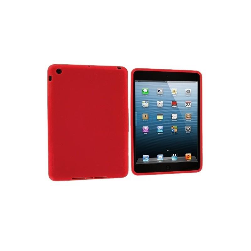 coque rouge silicone ipad mini 1 2 3 tout pour phone. Black Bedroom Furniture Sets. Home Design Ideas