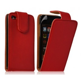 Etui cuir rouge iPod Touch 4G