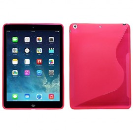 Coque iPad Air rouge S-Line silicone