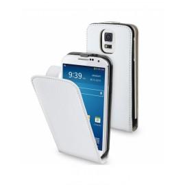 Etui cuir Samsung Galaxy S5 blanc
