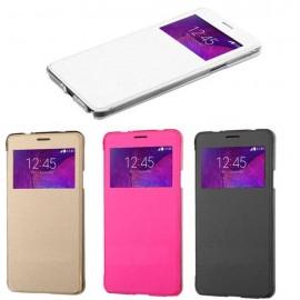 Etui flip cover Blanc Samsung Galaxy Note 4