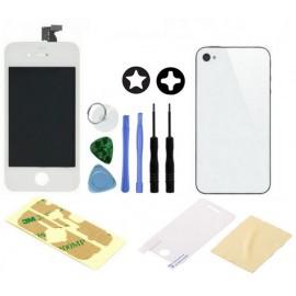 iPhone 4 complet blanc bloc vitre LCD chassis + vitre arrière