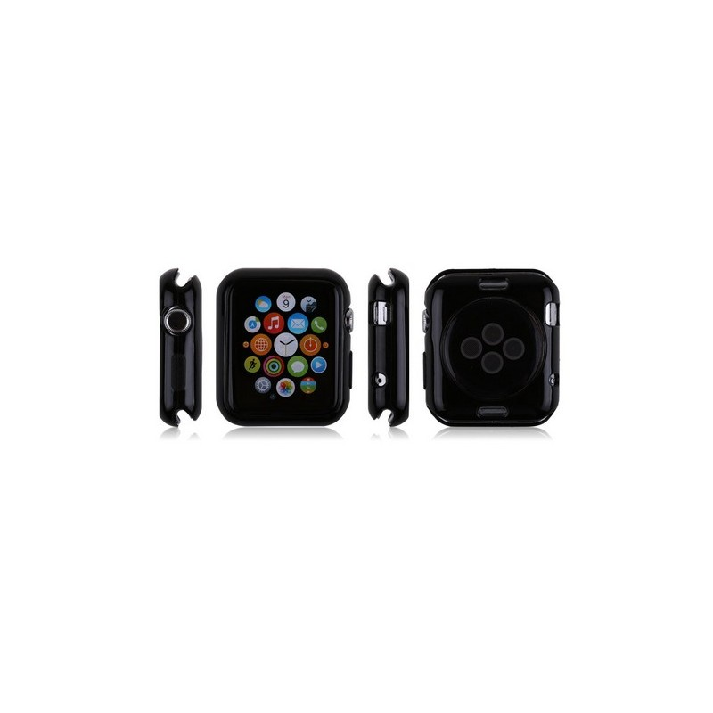 coque noire apple watch 42mm tout pour phone. Black Bedroom Furniture Sets. Home Design Ideas