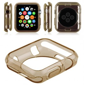 Coque silicone Apple Watch 42mm Or