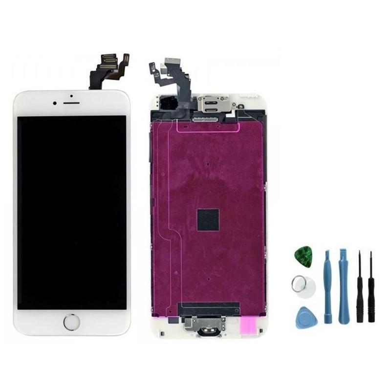 ecran complet blanc pour r paration iphone 6 plus tout pour phone. Black Bedroom Furniture Sets. Home Design Ideas
