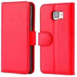 Etui portefeuille rouge Samsung Galaxy S6 Edge