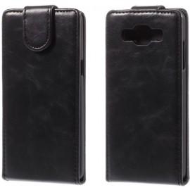 Etui cuir à clapet Samsung Galaxy A5 Noir