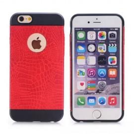 Coque silicone Croco iPhone 6 Plus / 6s Plus Rouge