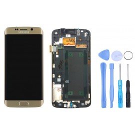 Ecran complet d'origine Samsung Galaxy S6 Edge Gold + Outils